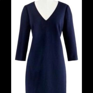 J.crew long sleeved wool crepe sheath dress - NEW
